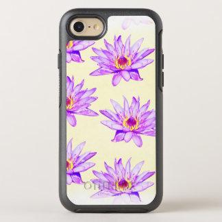 Capa Para iPhone 8/7 OtterBox Symmetry creme das flores de lótus manchado de tinta