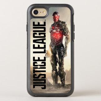 Capa Para iPhone 8/7 OtterBox Symmetry Cyborg da liga de justiça   no campo de batalha