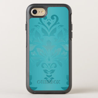 Capa Para iPhone 8/7 OtterBox Symmetry Damasco do Grunge de turquesa