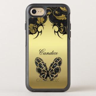 Capa Para iPhone 8/7 OtterBox Symmetry Damasco Jeweled da borboleta