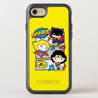 Capa Para iPhone 8/7 OtterBox Symmetry Dança dos heróis de Chibi