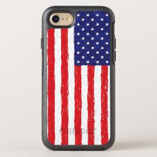 Capa Para iPhone 8/7 OtterBox Symmetry Desenho patriótico da bandeira dos Estados Unidos