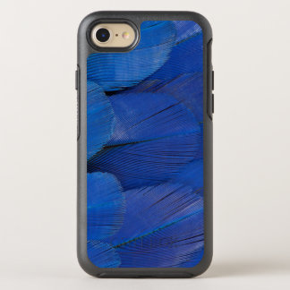 Capa Para iPhone 8/7 OtterBox Symmetry Design azul da pena do Macaw do jacinto