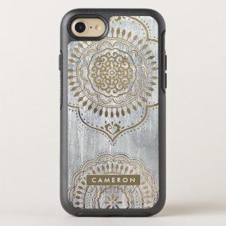 Capa Para iPhone 8/7 OtterBox Symmetry Design do ouro da mandala