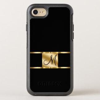Capa Para iPhone 8/7 OtterBox Symmetry Design elegante da inicial do nome do monograma