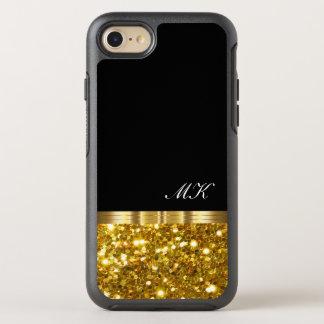 Capa Para iPhone 8/7 OtterBox Symmetry Design elegante de Bling do monograma do ouro