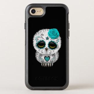 Capa Para iPhone 8/7 OtterBox Symmetry Dia azul da coruja inoperante do bebê