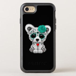 Capa Para iPhone 8/7 OtterBox Symmetry Dia azul do cão de filhote de cachorro inoperante