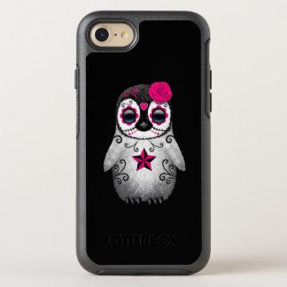 Capa Para iPhone 8/7 OtterBox Symmetry Dia cor-de-rosa do pinguim inoperante do bebê