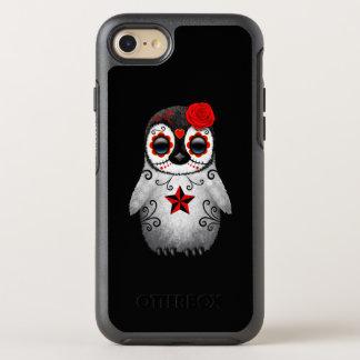 Capa Para iPhone 8/7 OtterBox Symmetry Dia vermelho do pinguim inoperante do bebê