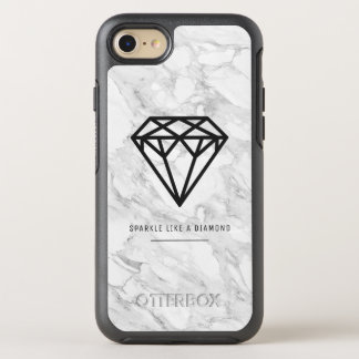 Capa Para iPhone 8/7 OtterBox Symmetry Diamante com mármore