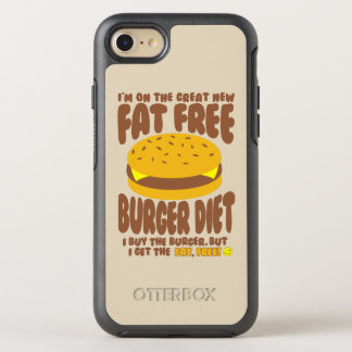 Capa Para iPhone 8/7 OtterBox Symmetry Dieta livre de gordura do hamburguer