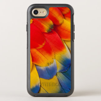 Capa Para iPhone 8/7 OtterBox Symmetry Do Macaw escarlate das penas do abrigo