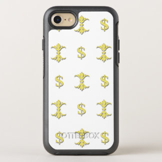 Capa Para iPhone 8/7 OtterBox Symmetry Dólar Bling do ouro de Hip Hop real