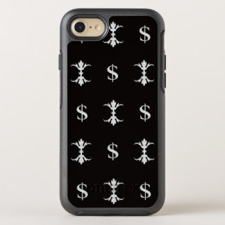 Capa Para iPhone 8/7 OtterBox Symmetry Dólar de prata Bling de Hip Hop real
