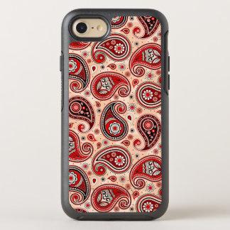 Capa Para iPhone 8/7 OtterBox Symmetry Elegante bege vermelho do marrom do teste padrão