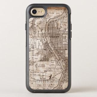 Capa Para iPhone 8/7 OtterBox Symmetry Elgin Illinois 1870 Plat o centro do rio do Fox do
