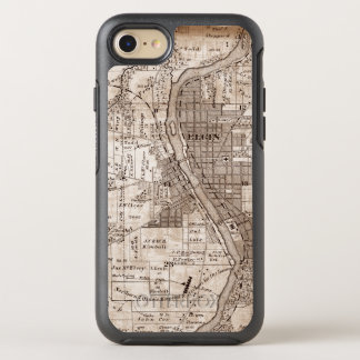 Capa Para iPhone 8/7 OtterBox Symmetry Elgin Illlinois 1870 Plat o centro do rio do Fox