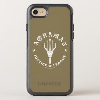 Capa Para iPhone 8/7 OtterBox Symmetry Emblema retro da liga de justiça   Aquaman Trident