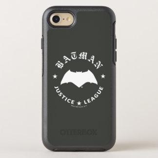 Capa Para iPhone 8/7 OtterBox Symmetry Emblema retro do bastão da liga de justiça  