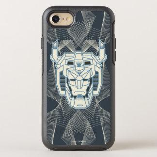 Capa Para iPhone 8/7 OtterBox Symmetry Esboço azul de Voltron | Voltron e branco