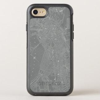 Capa Para iPhone 8/7 OtterBox Symmetry Esboço do mapa da cidade de Boston