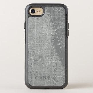 Capa Para iPhone 8/7 OtterBox Symmetry Esboço do mapa da cidade de Chicago