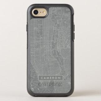 Capa Para iPhone 8/7 OtterBox Symmetry Esboço do mapa da Nova Iorque