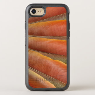 Capa Para iPhone 8/7 OtterBox Symmetry Escarlate das penas Vermelho-Alaranjadas do Macaw