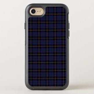 Capa Para iPhone 8/7 OtterBox Symmetry Escuro - azul cinzento com a listra amarela e