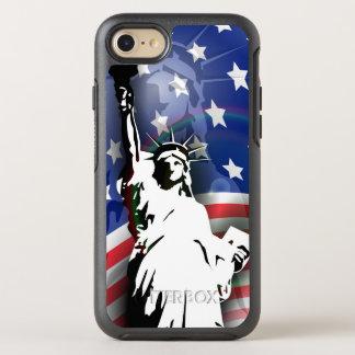 Capa Para iPhone 8/7 OtterBox Symmetry Estátua da liberdade e bandeira patrióticas