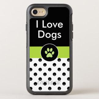 Capa Para iPhone 8/7 OtterBox Symmetry Eu amo os cães à moda