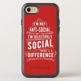 Capa Para iPhone 8/7 OtterBox Symmetry Eu não sou capa de telefone anti-social de