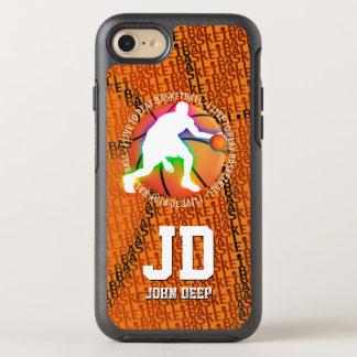 Capa Para iPhone 8/7 OtterBox Symmetry Eu vivo para jogar o esporte do basquetebol |