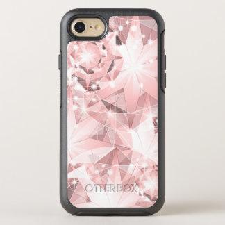 Capa Para iPhone 8/7 OtterBox Symmetry Faísca cor-de-rosa do diamante em brilhante Pastel