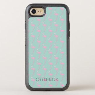 Capa Para iPhone 8/7 OtterBox Symmetry Flamingo cor-de-rosa no teste padrão sem emenda da