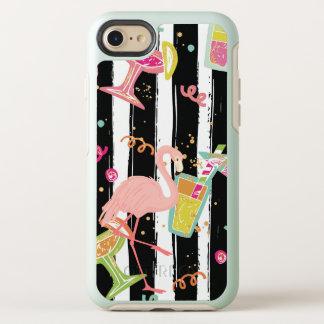 Capa Para iPhone 8/7 OtterBox Symmetry Flamingo tropical do divertimento do partido