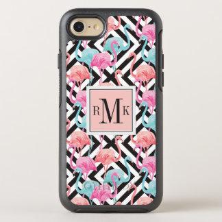 Capa Para iPhone 8/7 OtterBox Symmetry Flamingos no teste padrão corajoso do design