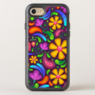 Capa Para iPhone 8/7 OtterBox Symmetry Flor do Hippie - capas de iphone