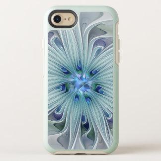 Capa Para iPhone 8/7 OtterBox Symmetry Flor Pastel azul moderna do abstrato floral da