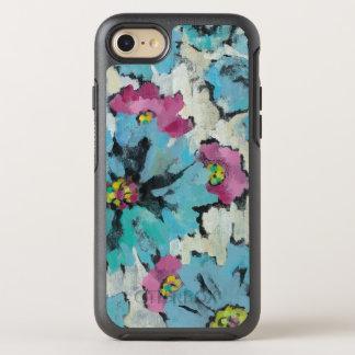 Capa Para iPhone 8/7 OtterBox Symmetry Floral cor-de-rosa e azul gráfico
