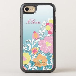 Capa Para iPhone 8/7 OtterBox Symmetry Floral Sculpted contemporâneo