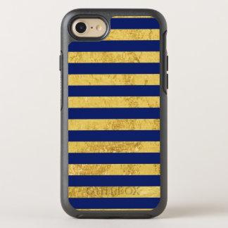 Capa Para iPhone 8/7 OtterBox Symmetry Folha de ouro elegante e teste padrão da listra