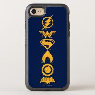 Capa Para iPhone 8/7 OtterBox Symmetry Formação estilizado dos símbolos da equipe da liga