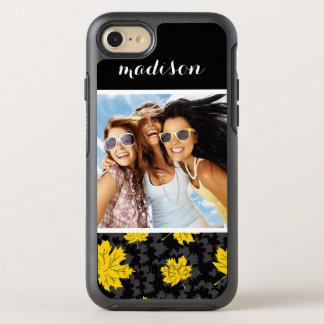 Capa Para iPhone 8/7 OtterBox Symmetry Fundo bonito do outono da foto & do nome
