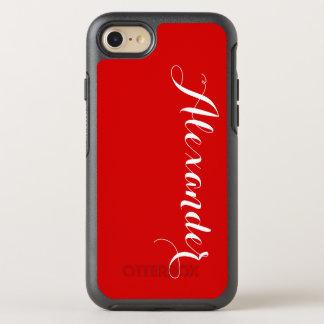 Capa Para iPhone 8/7 OtterBox Symmetry Fundo da cor de DIY, vermelho conhecido do
