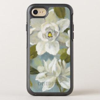 Capa Para iPhone 8/7 OtterBox Symmetry Gardenias no azul da ardósia