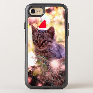 Capa Para iPhone 8/7 OtterBox Symmetry Gatinho, gato, capas de iphone do Feliz Natal