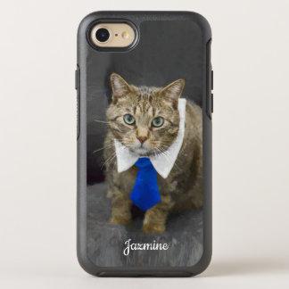 Capa Para iPhone 8/7 OtterBox Symmetry Gato de gato malhado marrom verde-eyed bonito que