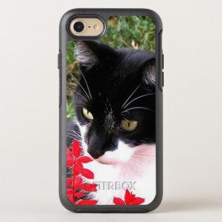 Capa Para iPhone 8/7 OtterBox Symmetry Gato impressionante do smoking no jardim